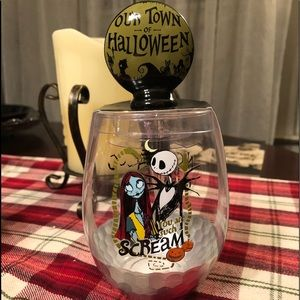 Nightmare Before Christmas Bar Glass & Bottle Stop